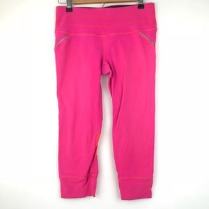 ATHLETA Hot Pink Cropped Capri Leggings Workout